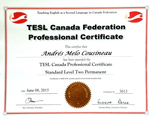 TESL CANADA LEVEL II PERMANENT